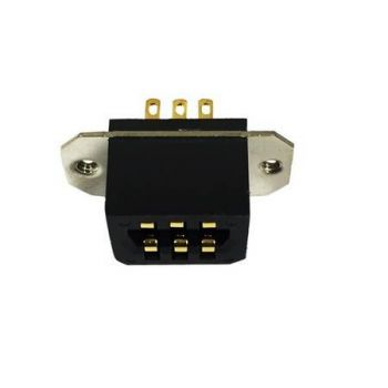 2105-20032-300 6-Pin Recepticle, Side Connector for RELM BK Radio DPH, GPH, EPH