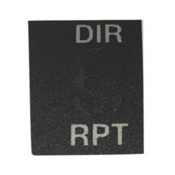 2509-30978-800 DIR/RPT Sticker, Top Plate Sticker for RELM BK Radio DPH-CMD and GPH-CMD