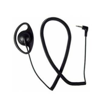 "AALO9RS2D D-Ring Listen Only Ear Piece - 25"" Coiled Cord, 2.5mm Jack"
