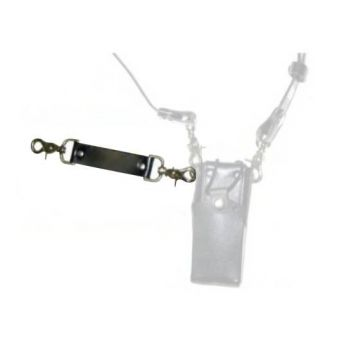 Leather Tether Strap, LAA0413T - Use with Shoulder Strap on Holsters for RELM BK Radio DPH, GPH and KNG P - Shown with Case and shoulder Strap