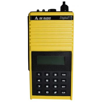 The Stinger Front view-Bendix King DPHX5102X radio in yellow APCO P25 Digital public safety two way radio