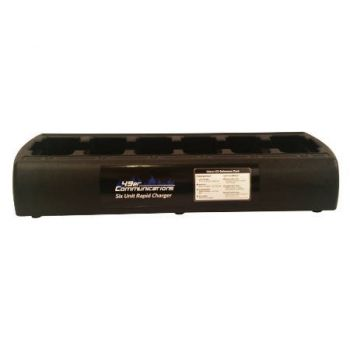 KAA0301P 6-Bay Gang Charger - Rapid Rate, Quad-Chemistry, Black for RELM BK Radio KNG