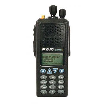 KNG-P150S Front View of Digital APCO P25, VHF 136-174 MHZ, 512 Channels, 6 Watt, Full Keypad - RELM BK Portable Radio