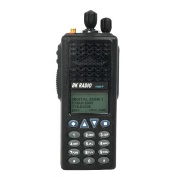 KNG-P150 BK Digital Portable Radio - P25 APCO - 2048 Channels, 6 Watt, VHF 136-174 MHz , Keypad