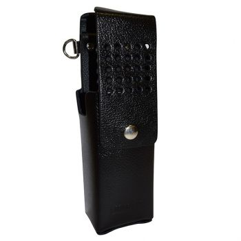 LAA0415 Top Flap Leather Holster - Belt Loop, Use with High Capacity Batteries for RELM BK Radio DPH, GPH