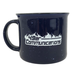 49er Communications Blue Ceramic Mug - Free with orders over $500