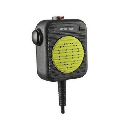 Fire Rated Mic, KAA0206 - IP68 (Submersible), Rated to 500 Degrees, Emergency Button for RELM BK Radio KNG P Series, Front View