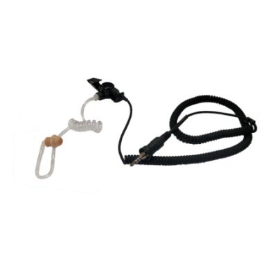 Acoustic Tube Listen Only Earpiece,  KAA0221-203 - 3.5mm Threaded Audio Jack for RELM BK Radio KNG P Series