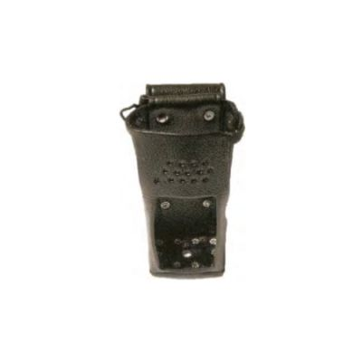 Small Battery Leather Holster, KAA0421 - D-Swivel Belt Loop, Use with KAA0100 or BABA1503 only for RELM BK Radio KNG