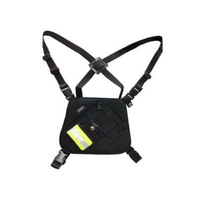 LAA0447 Chest Pack, Mesh, Black for RELM BK Radio DPH, GPH