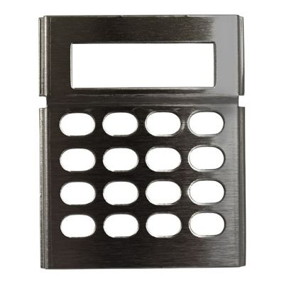 LAA0640CB Metal Keypad Cover - Stainless Steel for RELM BK Radio DPHCMD, GPHCMD