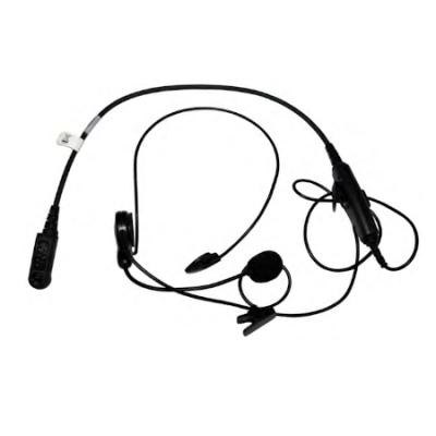 Lightweight BTH Headset, Dual Ear, In-Line PTT, XL-AE2C for Harris XL-200P