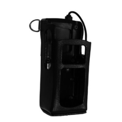 Leather Holster with Shoulder Strap, XL-HC4L for Harris XL-200P Portable Radios