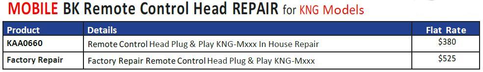 PDQ KAA0660 Repair Schedule